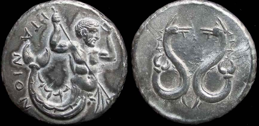 Itanos, Crete, Stater, Triton and Sea Monsters